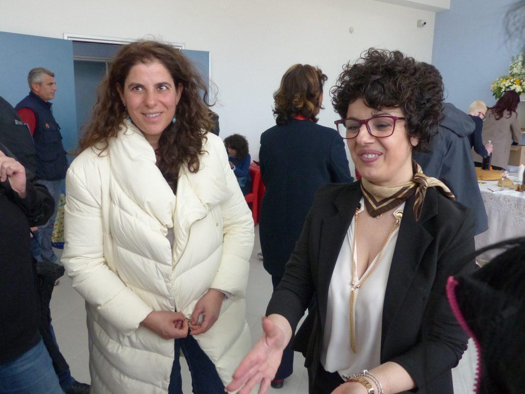 Die italienischen Journalisteninnen Carmen Mancarella und Maria De Giovanni