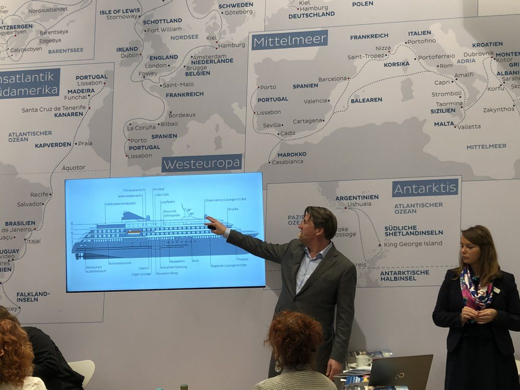 nicko-cruises Geschäftsführer Guido Laukamp stellt die Neuheiten vor, Foto: Weirauch