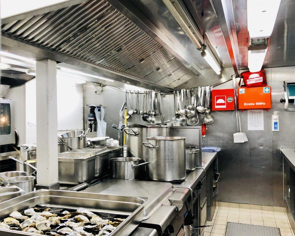 Blick in die Küche der A-Rosa Luna