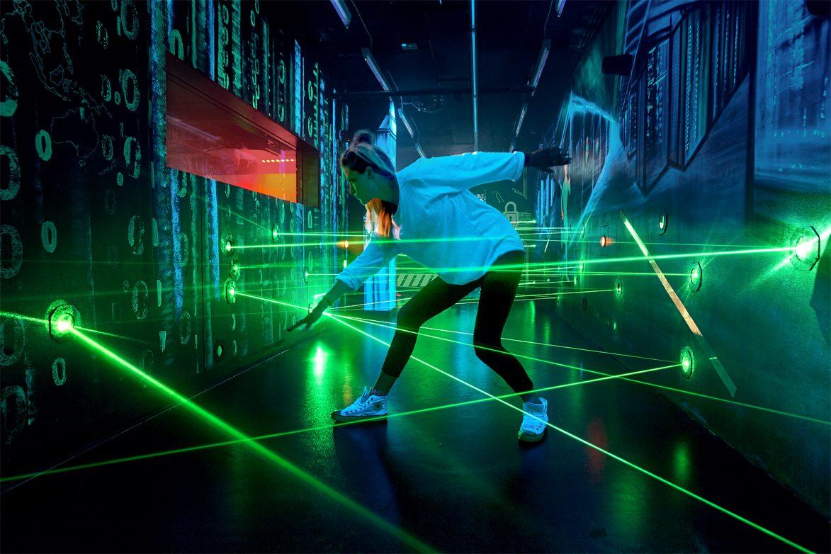 Blick in den Laserparcours, Foto: DSM