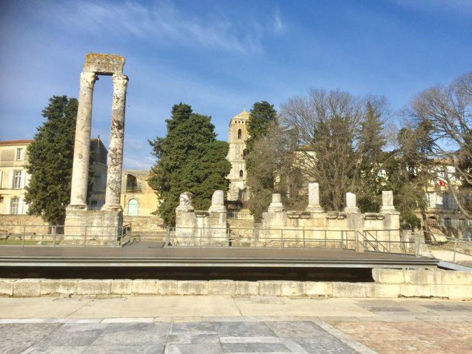 Blick auf die Bühne des Antiken Theaters