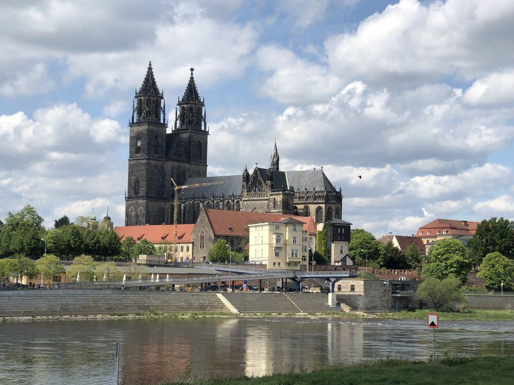 Blick auf den Dom zu Magdeburg Foto: Weirauch
