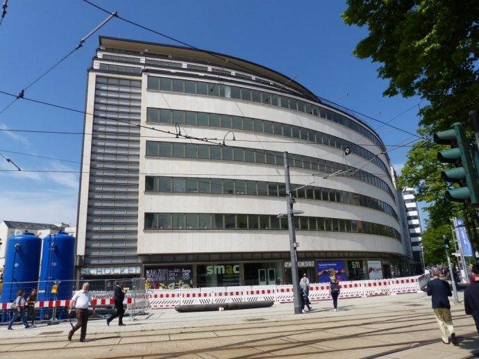 Das Kaufhaus Schocken in Chemnitz von Erich Mendelsohn Foto: Weirauch
