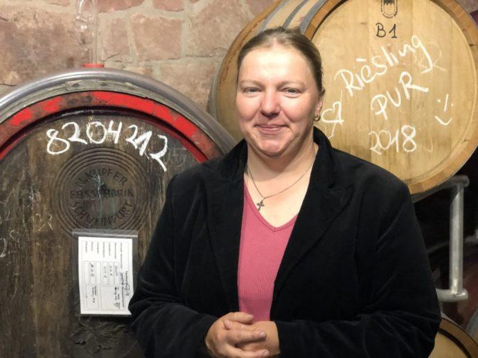 Bio-Winzerin Anja Stritzinger aus Klingenberg i. Churfranken