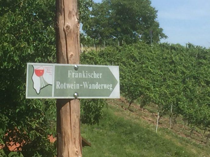 Auf dem Fränkischen Rotwein-Wanderweg in Churfranken