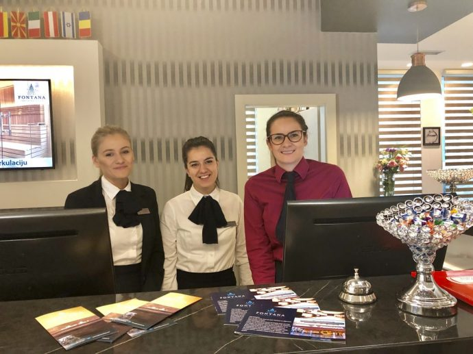 Freundlicher Empfang im Hotel Fontana