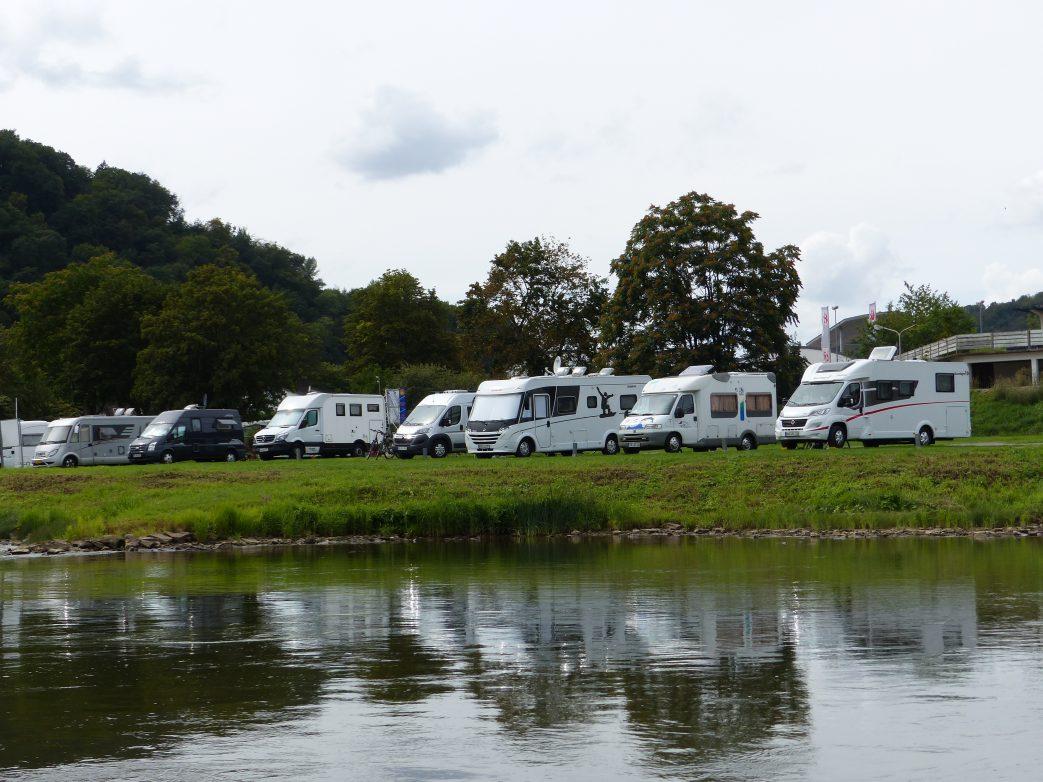 Beliebt ist der Campingplatz Bad Karlshafen