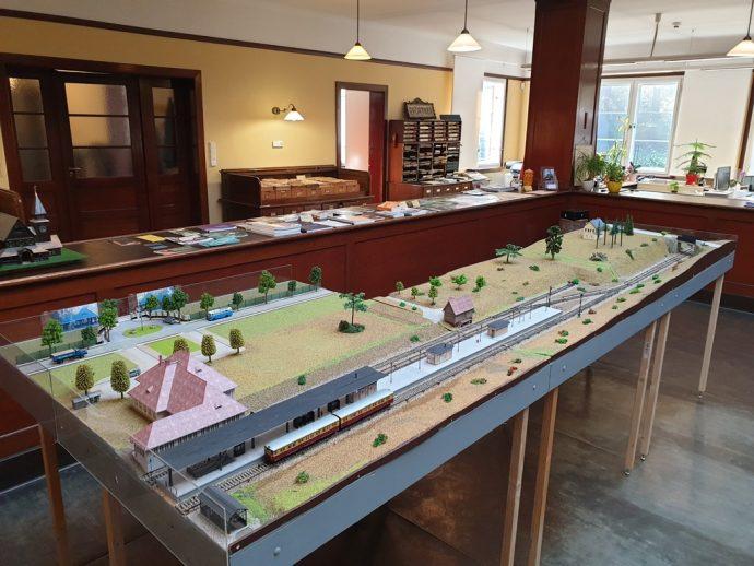 Modell der Gleisanlage