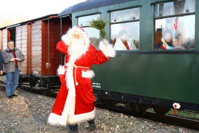 Nikolaus auf der Museumseisenbahn Pollo