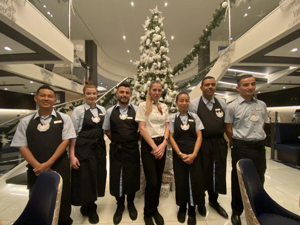 Das fleißige Serviceteam im Restaurant