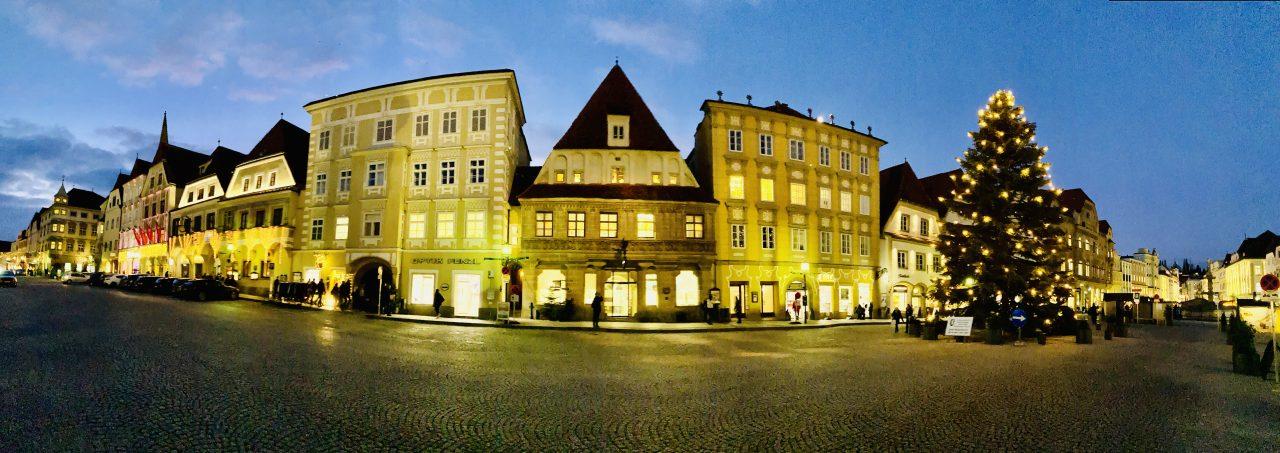 Der Marktplatz von Steyr in Österreich, Foto: Weirauch