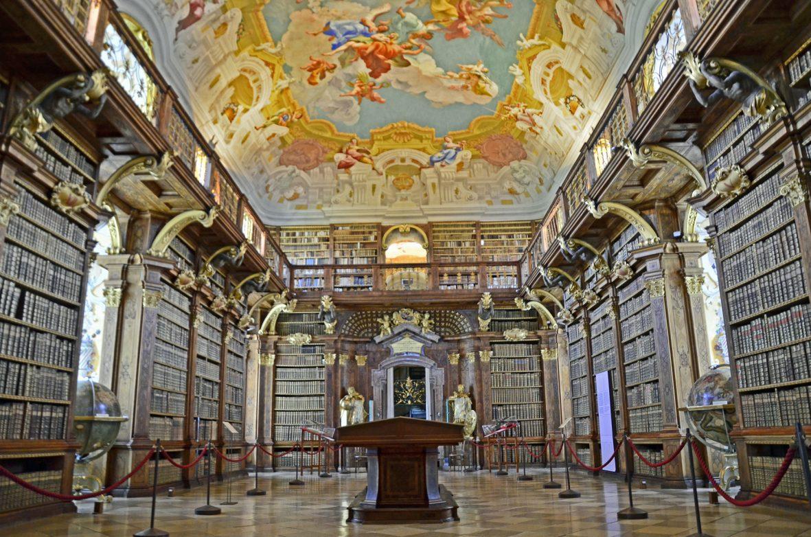Klosterbibliothek von Stift Melk c:brigitte-kobler-pimiskern