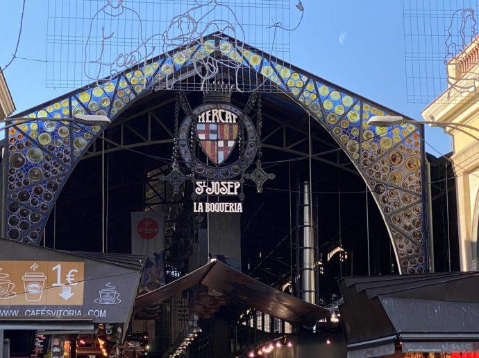 Die berühmte Markthalle von Barcelona an der Rambla Foto: Weirauch