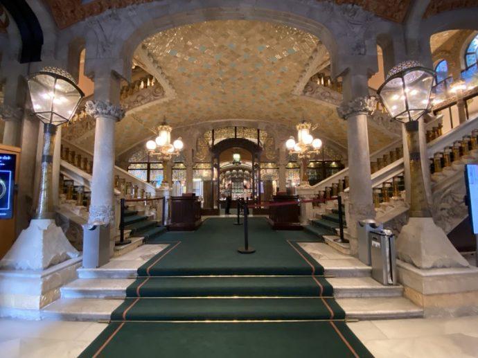 Eingang des Musikpalastes von Barcelona, Foto: Weirauch
