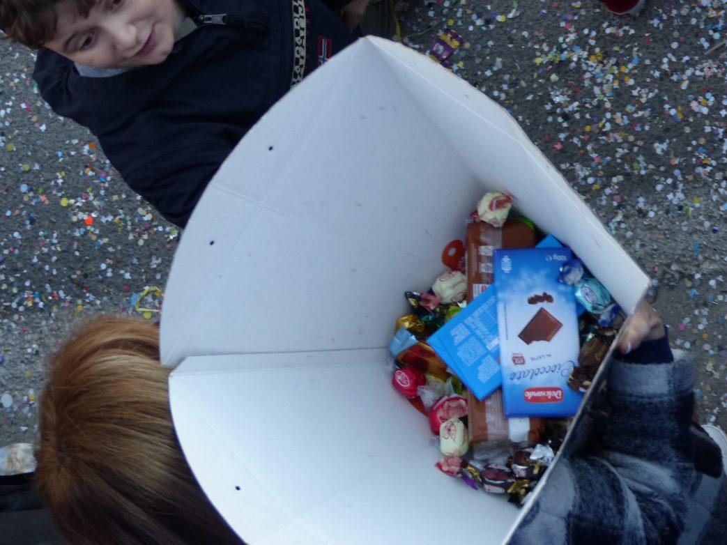 Reiche Ausbeute an Süßigkeiten