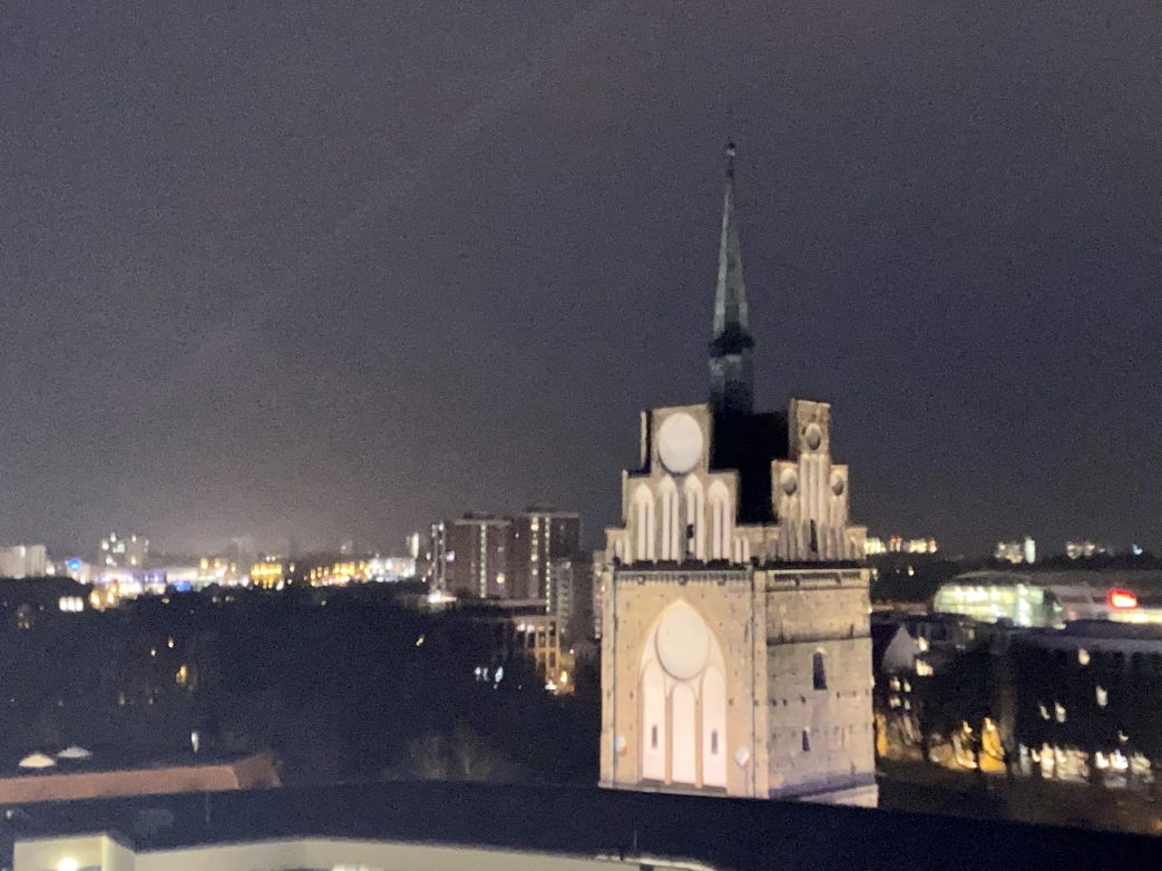 Blick von der 7. Etage auf das Kröpeliner Tor Foto: Weirauch
