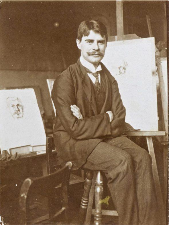 Hans Baluschek in seinem Atelier, 1904/05FotografieArchiv Bröhan-Museum