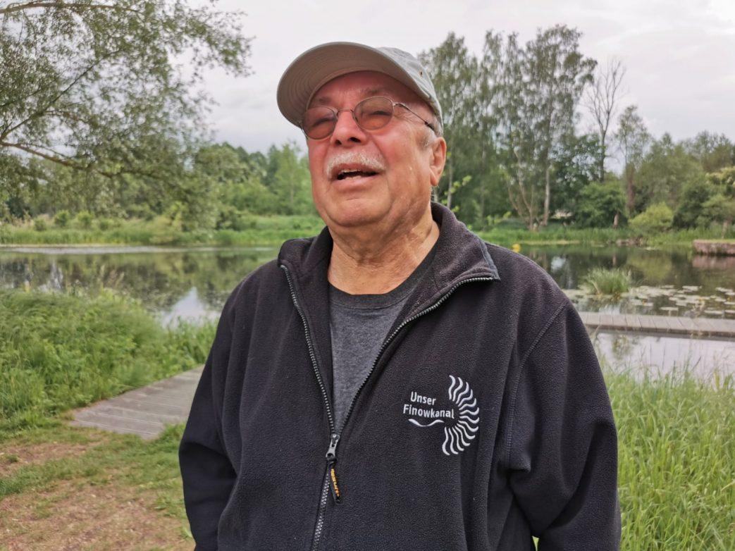 Lebt für den Finowkanal: Professor Hartmut Ginnow-Merkert Foto: Weirauch