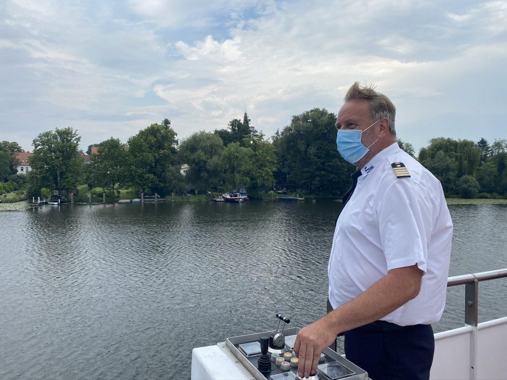 Kapitän Peter Grunewald im Juni 2020 Foto: Weirauch