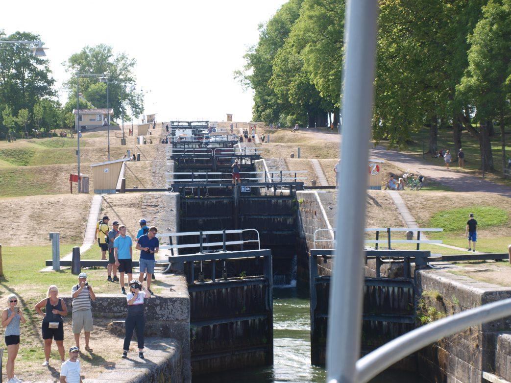 Schleusentreppe am Götakanal Foto: L.Bischoff