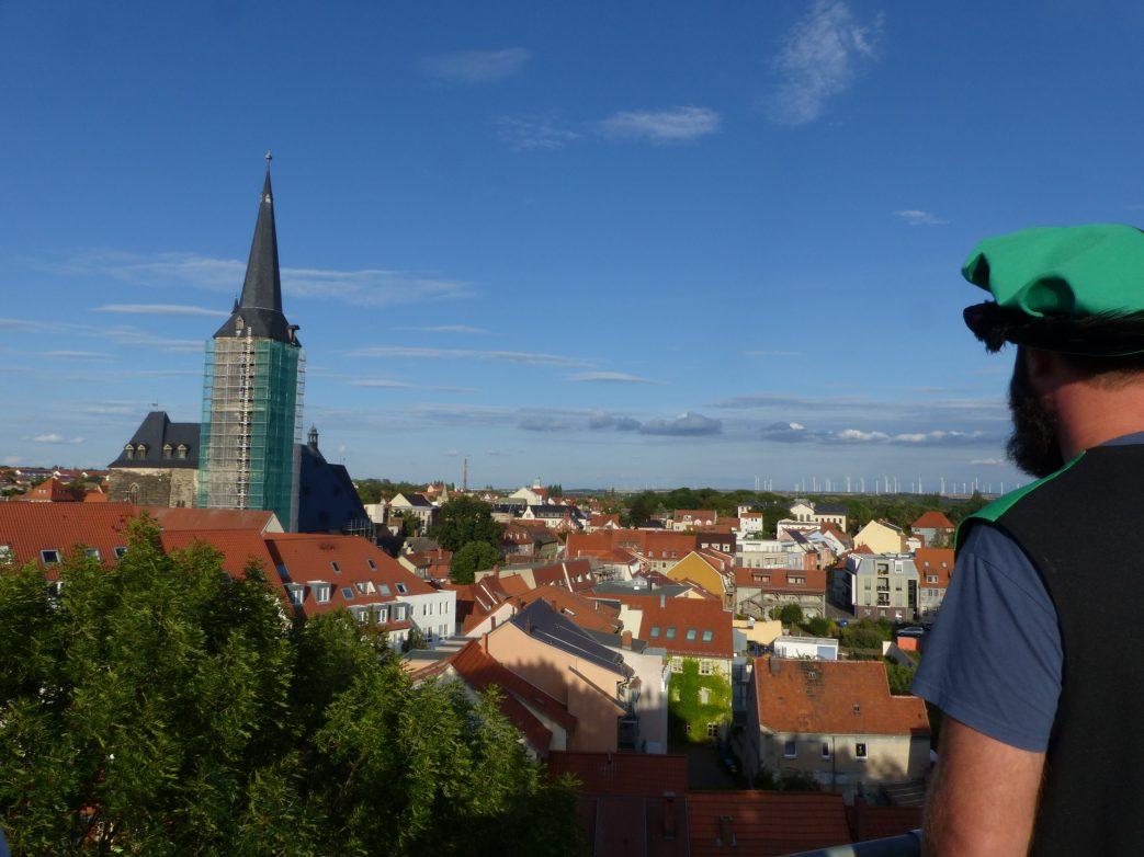 Blick vom Stumpfen Turm über Aschersleben