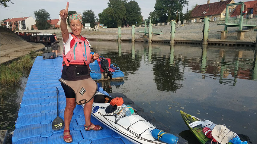 Tourteilnehmerin Elisabeth Lange Foto: Bogumił Jarecki. Polen