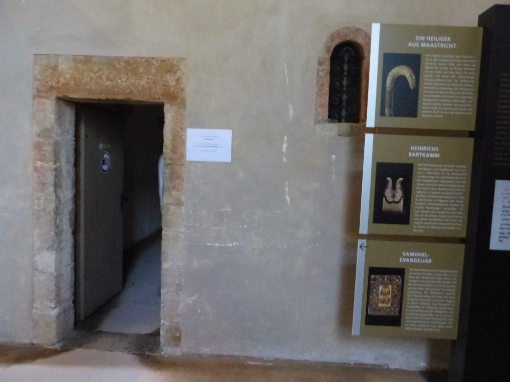 Eingang in die Schatzkammer der Quedlinburger Stiftskirche