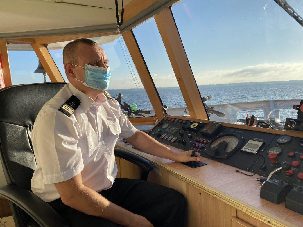 Kapitän auf der classic Lady in Masuren