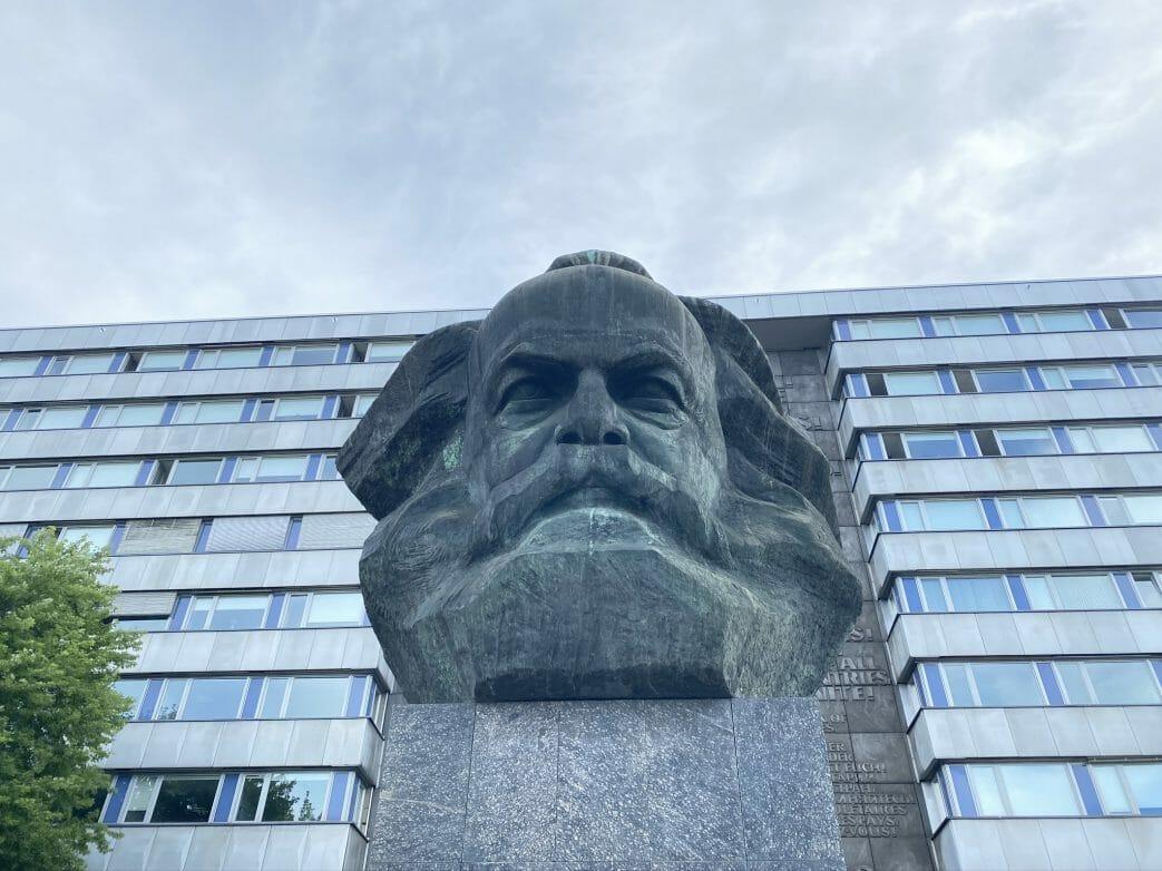 Karl Marx Monument Chemnitz Sachsen