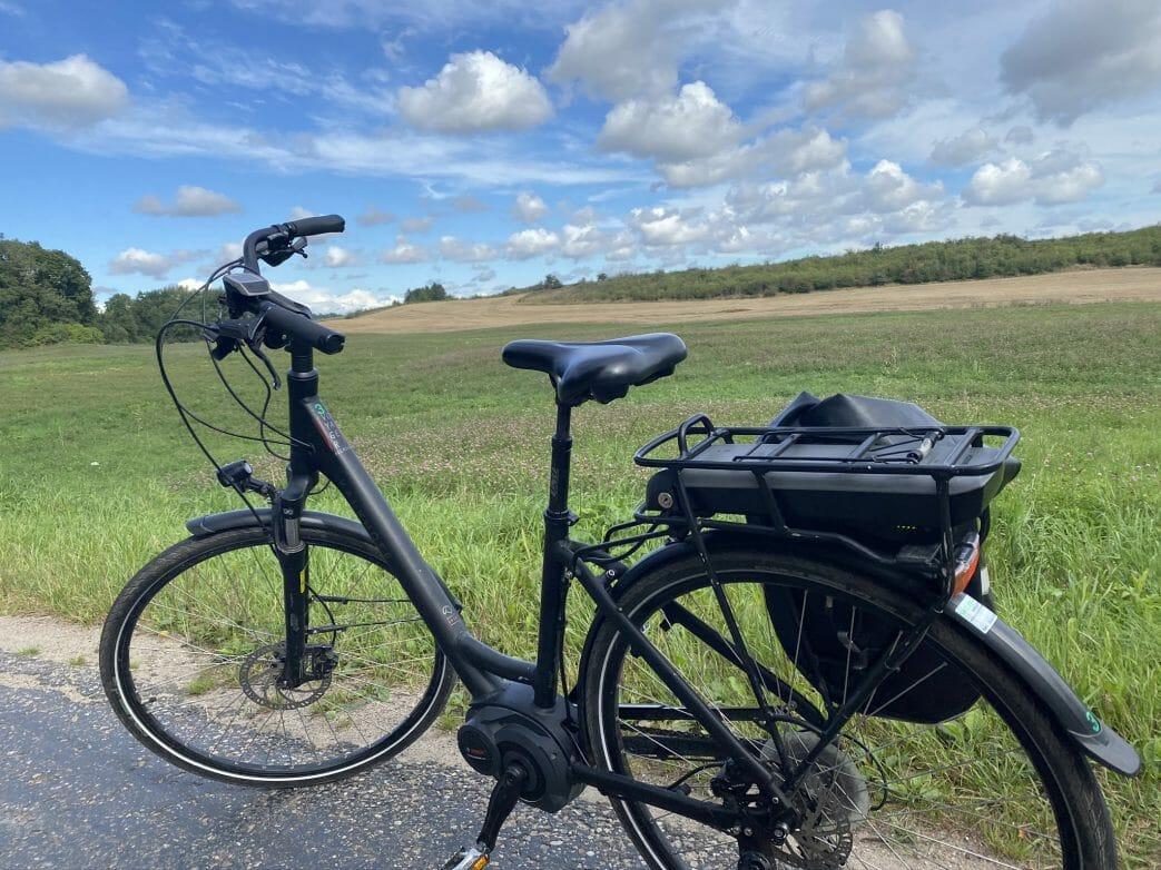 Mein Fahrrad während der Tour