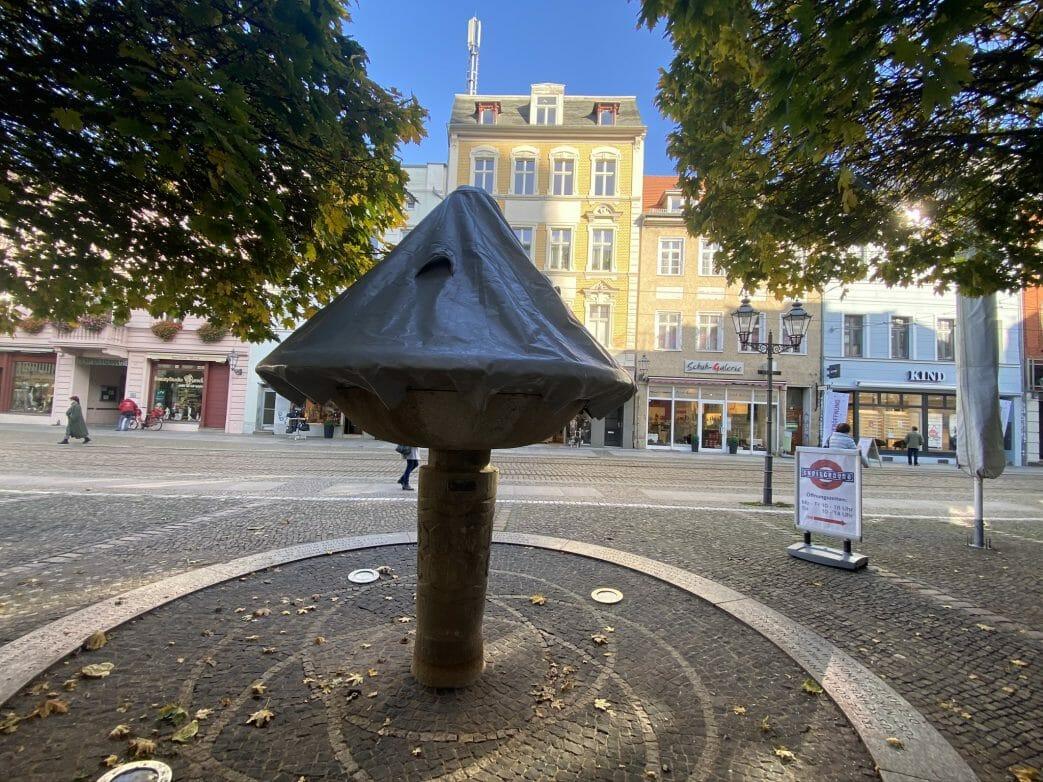Fritze bollmann Brunnen im Winter