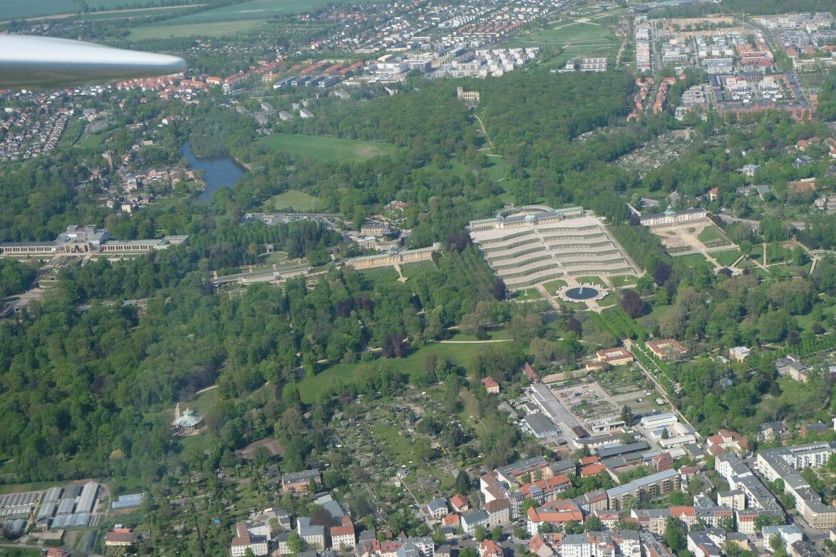 Blick auf den Park Sanssouci