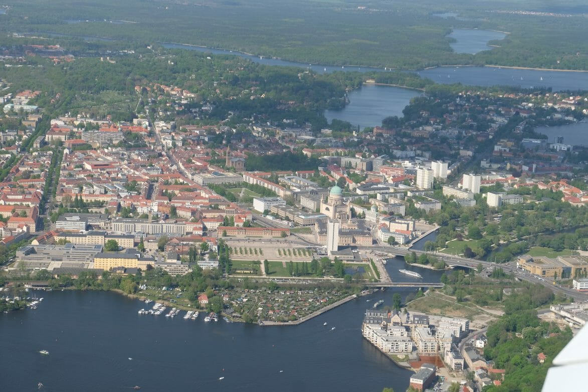 blick auf das Zentrum von Potsdam