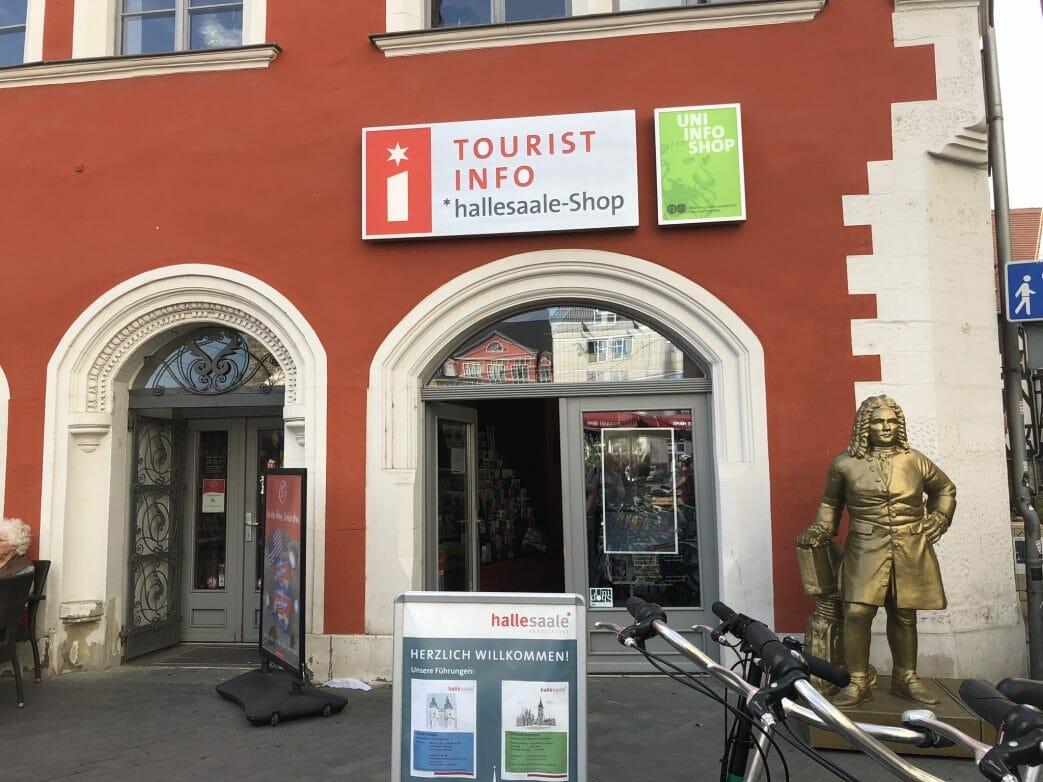 Touristinfo auf dem Marktplatz von Halle