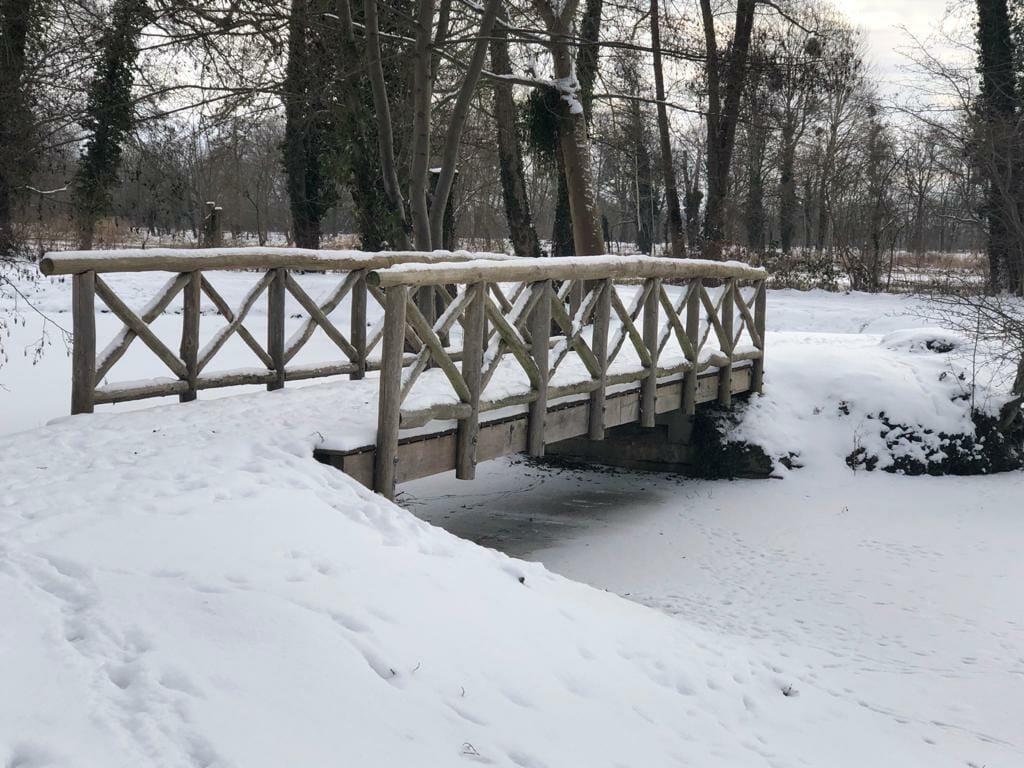 Havelland.winter.Marquardt Brücke schlosspark Marquardt