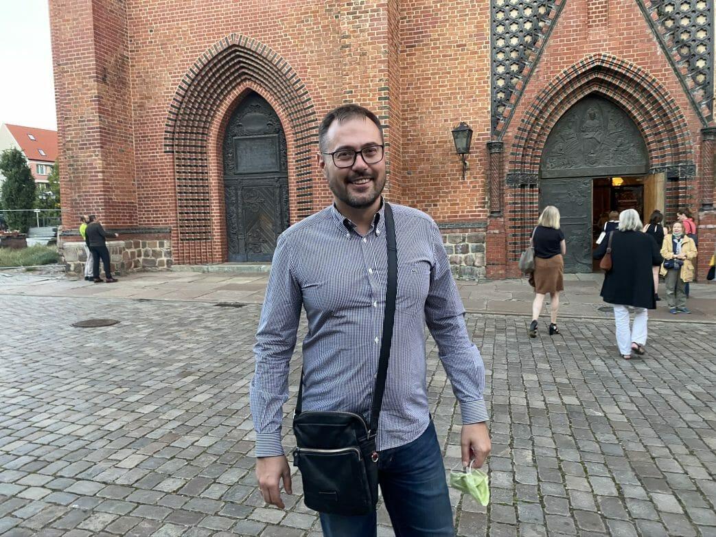 Konrad Guldon in seiner Heimatstadt Stettin