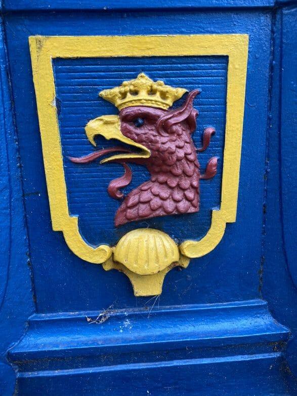 Wappen der Stadt Stettin zeigt den Kopf des roten Greifen