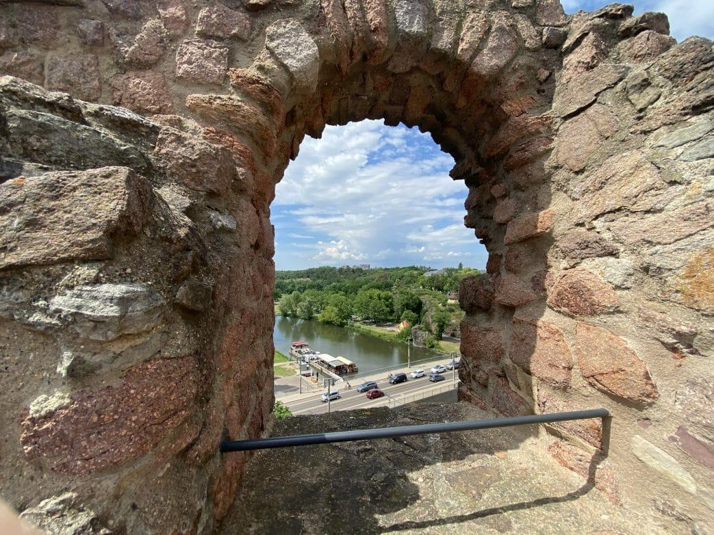 Blick von der Oberburg auf die Saale