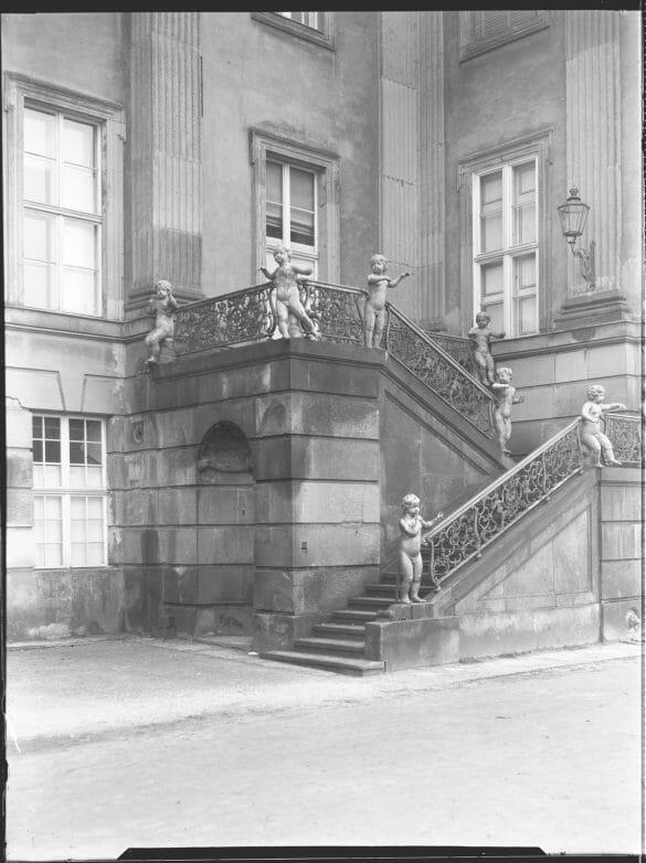Die Engeltreppe Stadtschloss Potsdam um 1940 Foto: SPSG