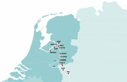Karte der Hansestädt~Marketing Oost.