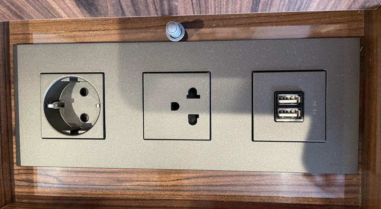 Genügend USB-Anschlüsse sind vorhanden