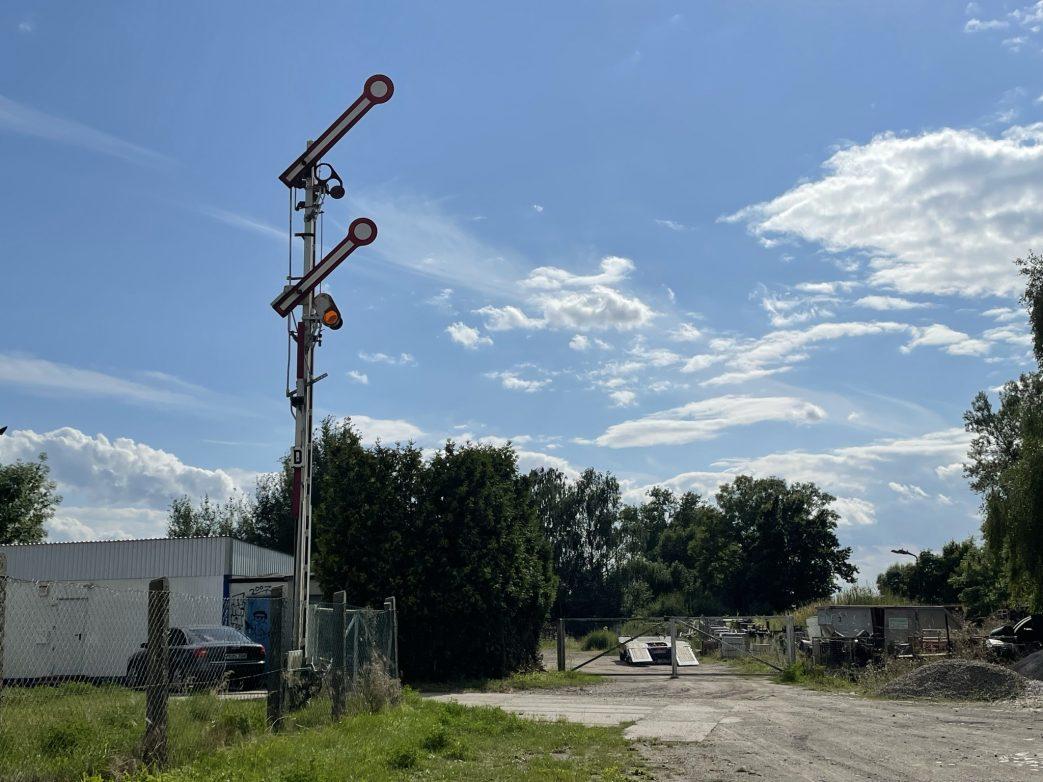 Signalanlage am einstigen Bahnhof Roskow